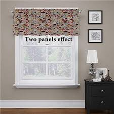 Amazon Com Shirlyhome Autumn Valance Curtains Woodland Wildlife Pinecone For Kids Room Baby Nursery Dormitory 56 Inch By 16 Inch 1 Panel Home Kitchen