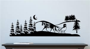 Winter Scene Mural Vinyl Decal Wall Sticker