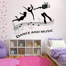 Dancing Girls Wall Sticker Dance And Music Diy Girl Room Decoration Wall Decal Vinyl Waterproof Home Bedroom Decor Poster Z535 Wall Stickers Aliexpress