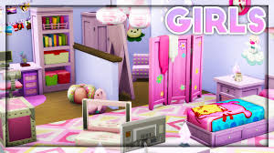 The Sims 4 Room Build Kids Room Stuff Girls Room Youtube