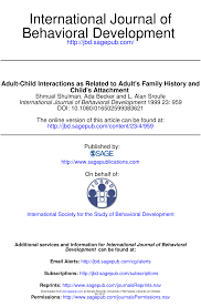 PDF) Adult-Child Interactions as Related to Adult's Family History and  Child's Attachment