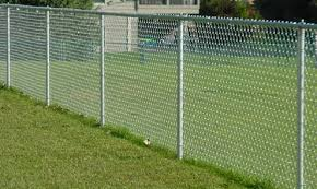 Privacy Vinyl Coated Chain Wire Fencing Panels 3mm Diameter Galfan Wire Hot Dip Galvanized Fence
