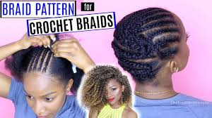 to braid your hair for crochet braids