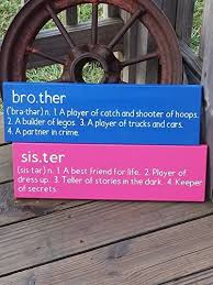 Amazon Com Brother Sister Signs Set Of Wooden Signs Nursery Wall Decor Baby Gift Kids Room Wall Art Gift For Brother Sister Wall Plaque Handmade