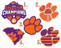 Clemson Tiger Paw College Football South Carolina Sc Vinyl Decal Sticker 77005z Car Truck Graphics Decals Moonnepal Com