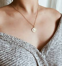 circle pendant necklace gold medallion