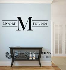 Custom Personalized Family Name Wall Stickers Vinyl Wall Decals Art Mural Decor Ebay