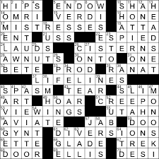 new york times crossword answers