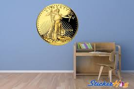 Gold Eagle Proof Coin Wall Decal Classroom Shop By Room