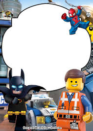 Free Lego Movie Invitations For Birthday Invitaciones De Lego
