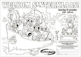 Damen Illustraties Presenteert Sinterklaas Kleurplaat Leidsenhage