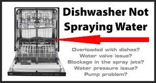 dishwasher not spraying water how to
