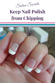 keep your nail polish from chipping