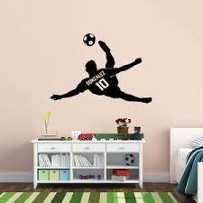 Vwaq Personalized Soccer Player Wall Decal Custom Name Boys Room Sport