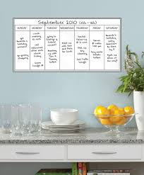 Weekly Calendar Dry Erase Wall Decal Zipse Haus Boutique