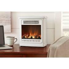 electric fireplace white portable small