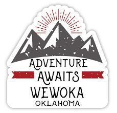 Wewoka Oklahoma Souvenir 4 Inch Vinyl Decal Sticker Adventure Awaits Design Walmart Com Walmart Com