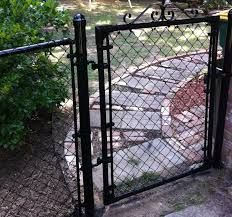 Going In And Out Of Gates Bonus Points For It Being Loud And Squeaky Painted Chain Link Fence Chain Link Fence Gate Chain Link Fence