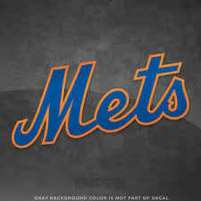 New York Mets Jersey Logo Vinyl Decal Sticker Mlb 4 And Larger Glossy Ebay