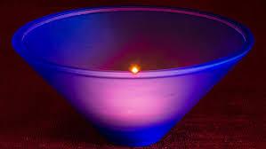 glass bowl blue glass bowl blue