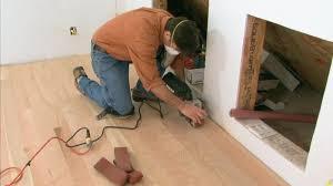 install hardwood floor over concrete