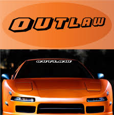 Outlaw Decal Sticker Windshield Lettering Topchoicedecals