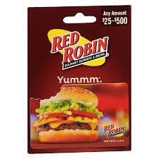 red robin non denominational gift card