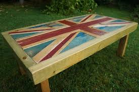 union jack coffee table made from