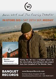 Aaron West And The Roaring Twenties - Saturday 28th September at Banquet  Records, 12:00pm (UPGRADE) | Banquet Records