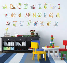 129 Animal Alphabet Giant Wall Decals Removable And Reusable Stickers Abc Decor For Sale Online