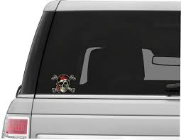 Aged Jolly Roger Flag Back Window Graphic Perforated Film Decal Truck Suv