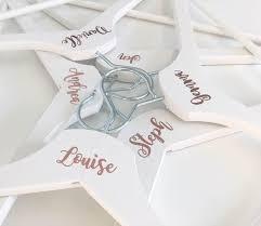 Rose Gold Wedding Hangers Stickers Custom Wedding Sticker Personalised Hanger D Rose Gold Wedding Accessories Wedding Dress Hanger Bridesmaid Dress Hangers