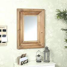wood frame large rustic wall mirror