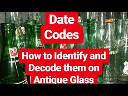 antique glass bottles basic date