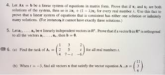 prove that a system of linear equations