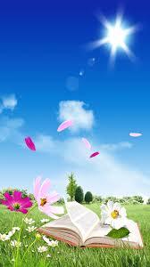 مشمس سماء زرقاء خلفيات كتب Soleil