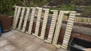 Home Bargains 2 99 1m Wooden Border Fencing Youtube