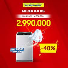 Máy giặt MIDEA 8.0 Kg MAS-8001 giảm 40%... - Siêu Thị Điện Máy ...