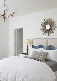 french gray headboard with gold