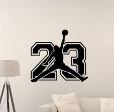 Amazon Com Jordan Wall Decal Air Jordan Jumper 23 Sign Basketball Quote Vinyl Sticker Motivational Gift Gym Decor Art Poster Mural Print 971 Arts Crafts Sewing