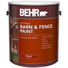 Behr Barn Fence Exterior Paint Flat Red 3 79 L The Home Depot Canada