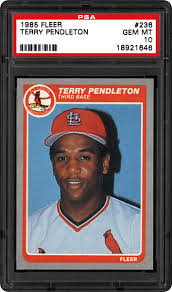 1985 Fleer Terry Pendleton | PSA CardFacts™