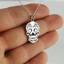 sterling silver sugar skull pendant