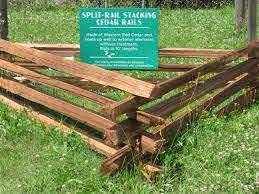 Split Rail Stacking Cedar Rails Capitol City Lumber
