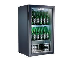 home 98l bar fridge chiller black