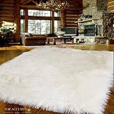 fur accents large faux sheepskin