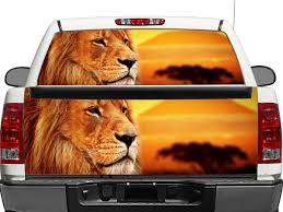 Product Lion On Sunset Rear Window Or Tailgate Decal Sticker Pick Up Truck Suv Car