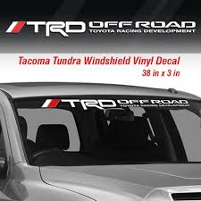 Toyota Trd Off Road Racing Tacoma Tundra Windshield Vinyl Decal Sticker Truck Wish