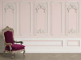 3d Classic Interior Wall With Cornice And Moldings Mural Etsy