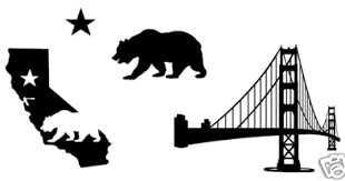 Bear Flag Museum Vinyl Black And White California Bear Flag Stickers Decals